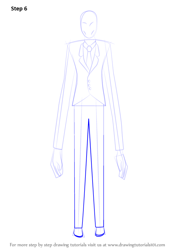 Learn How To Draw Slender Man Slender Man Step By Step Drawing Tutorials