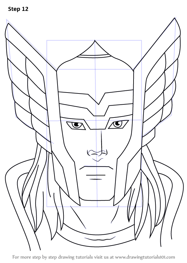 Learn How To Draw Thor Face Thor Step By Step Drawing