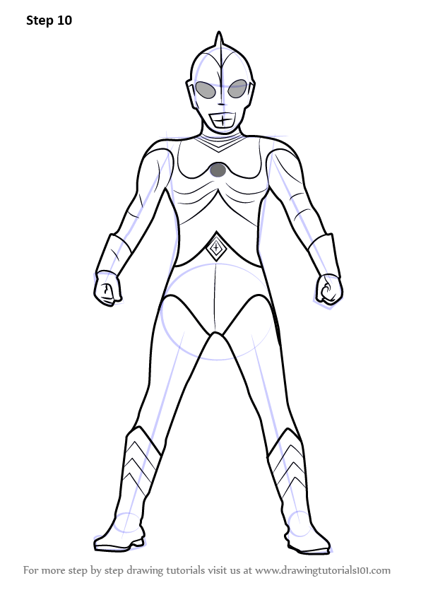 Learn How To Draw Ultraman 80 Ultraman Step By Step