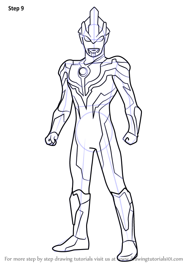 Learn How To Draw Ultraman Ginga Ultraman Step By Step