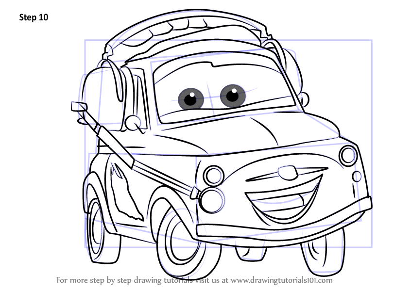 Learn How to Draw Luigi from Cars 3 (Cars 3) Step by Step ...