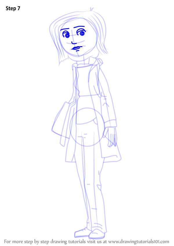 Learn How To Draw Mel Jones From Coraline Coraline Step