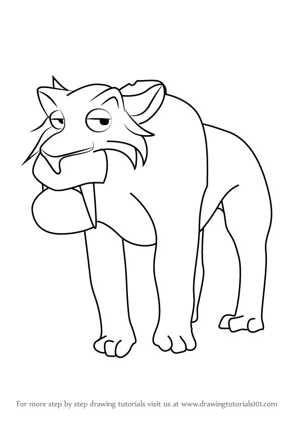 Printable Coloring Pages Sid Sloth