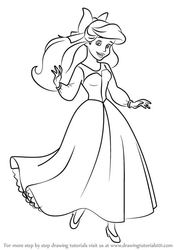 Learn How To Draw Ariel As Human From The Little Mermaid