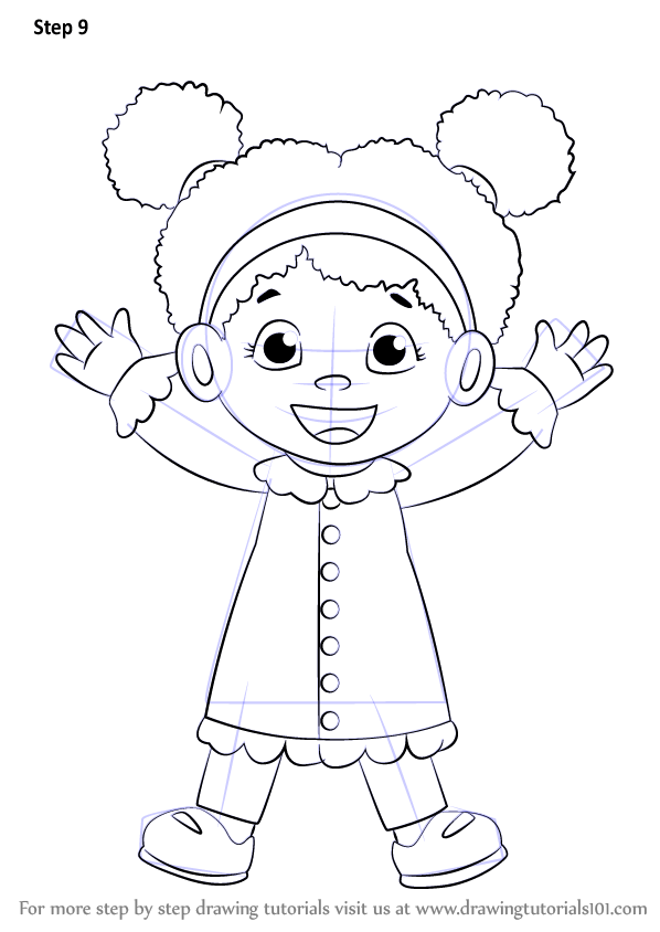 Step By Step How To Draw Miss Elaina From Daniel Tigers