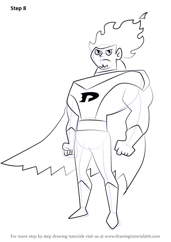 Learn How To Draw Dan Phantom From Danny Phantom Danny