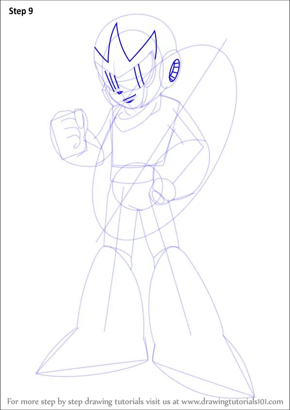 Learn How To Draw Proto Man From Mega Man Mega Man Step