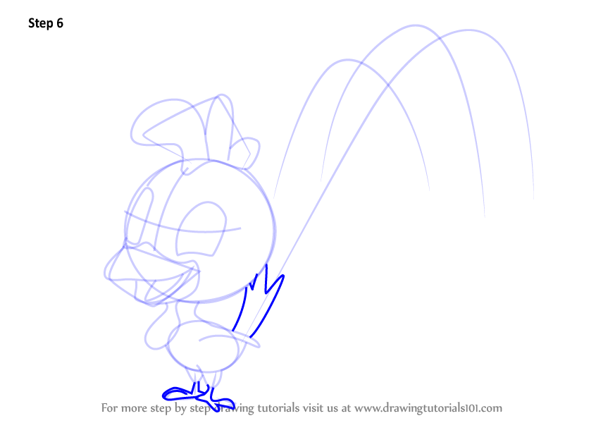 Learn How To Draw Boo Boo Chicken From Mickey Mouse