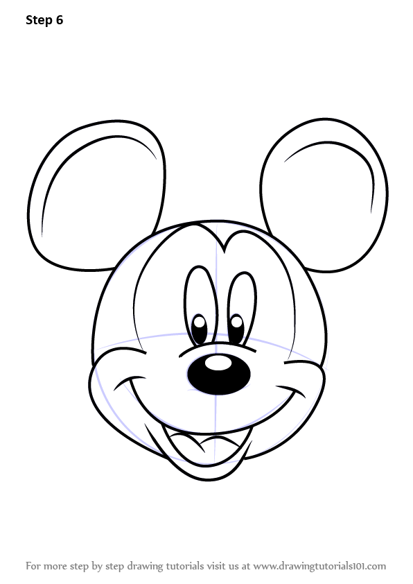Learn How To Draw Mickey Mouse Face From Mickey Mouse