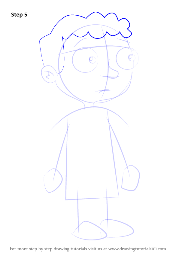 Step By Step How To Draw Baljeet Tjinder From Phineas And
