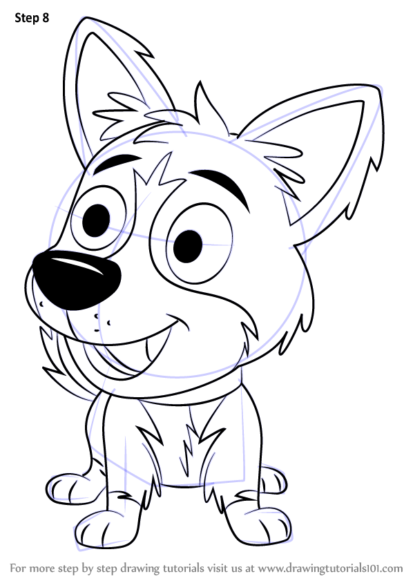 Step By Step How To Draw Tundra From Pound Puppies