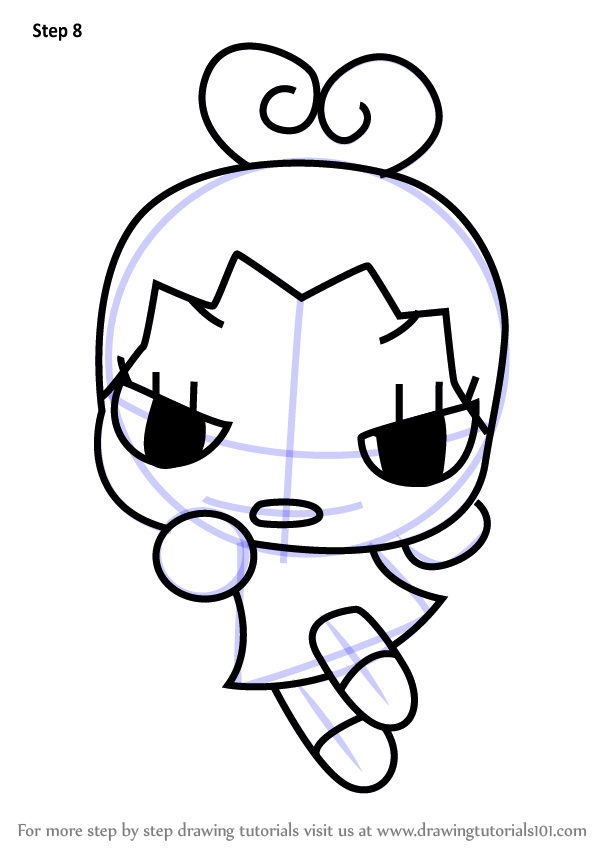 Learn How To Draw Ring Ring From Pucca Pucca Step By