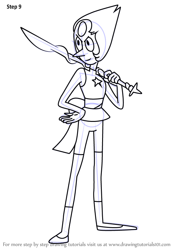 Learn How To Draw New Pearl From Steven Universe Steven