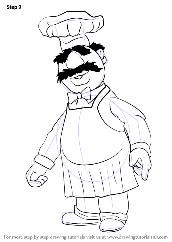 Learn how draw swedish chef muppet show, frozen coloring pages