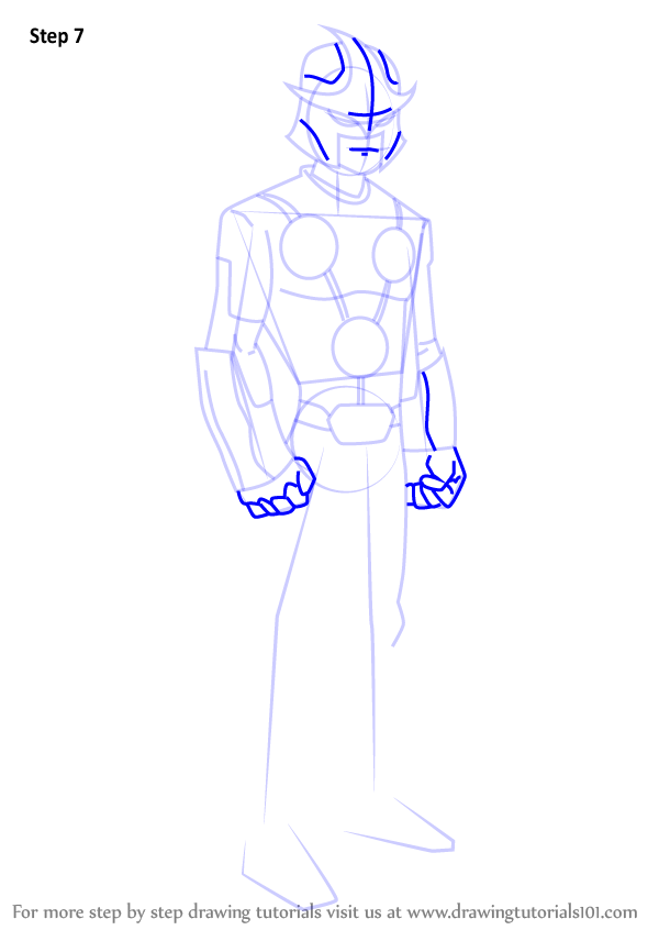Step By Step How To Draw Nova From Ultimate Spider Man