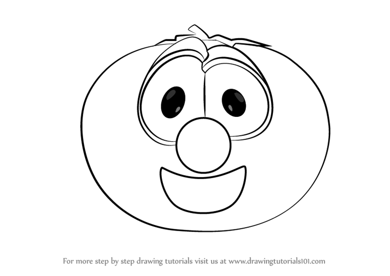 Learn How To Draw Bob The Tomato From VeggieTales