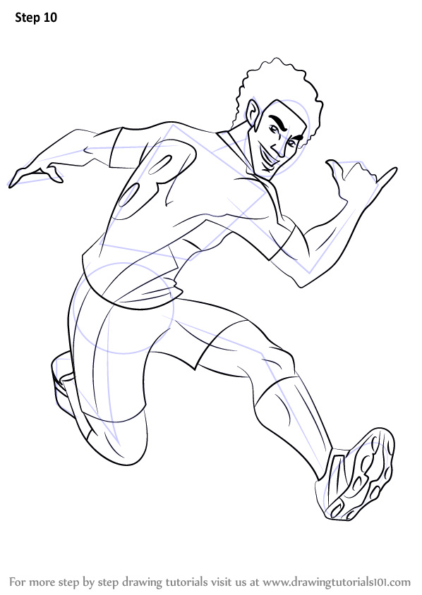 Learn How To Draw North Shaw From Supa Strikas Supa