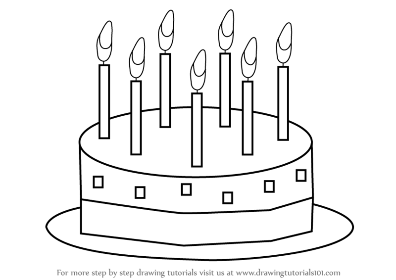 Learn How To Draw Birthday Cake For Kids Cakes Step By