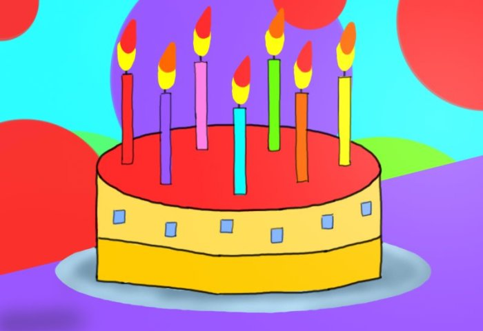 Learn How To Draw Birthday Cake For Kids Cakes Step By Step