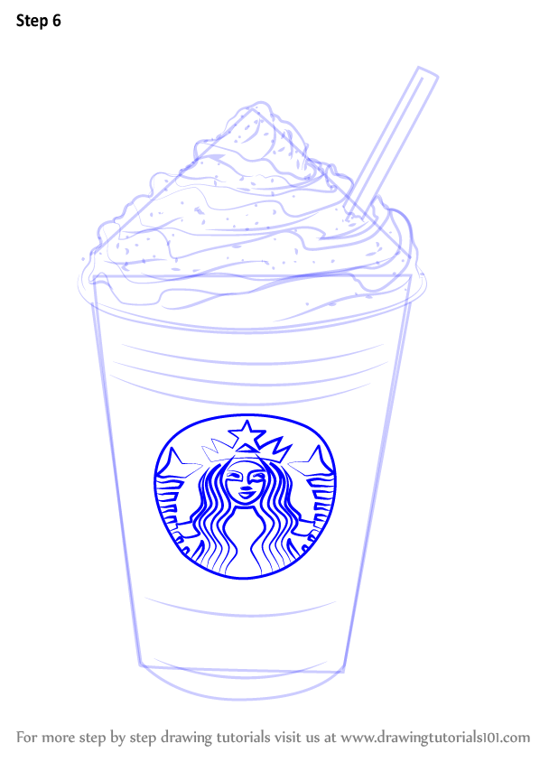 Step By Step How To Draw Frappuccino