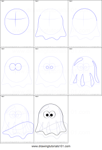 halloween pictures step by step drawing