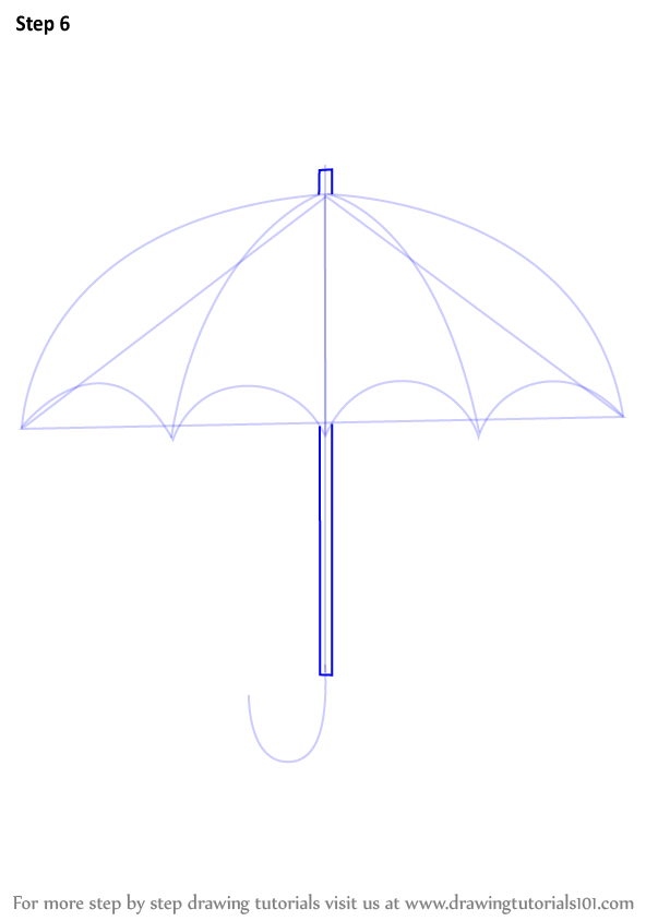 Learn how to draw an umbrella simple steps drawing lesson for beginners. Learn How to Draw an Open Umbrella (Everyday Objects) Step ...