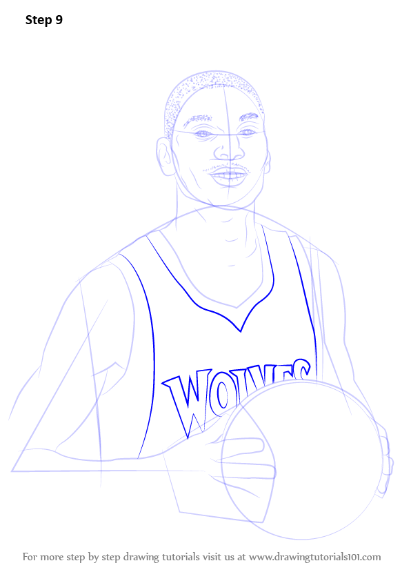 Learn How To Draw Zach Lavine Basketball Players Step By