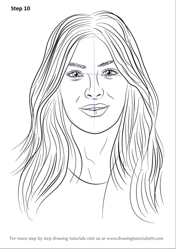 Step By Step How To Draw Kim Kardashian