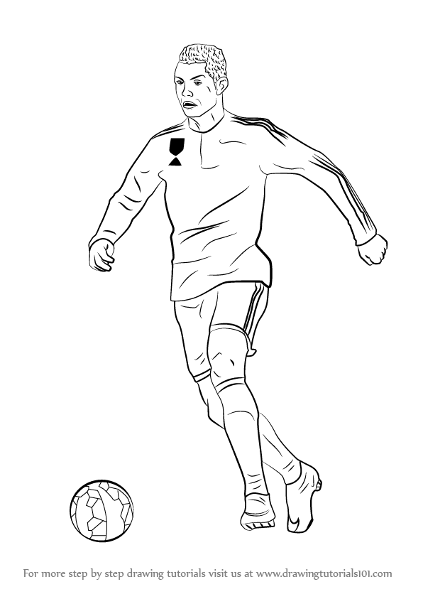 learn how to draw cristiano ronaldo (footballers) step
