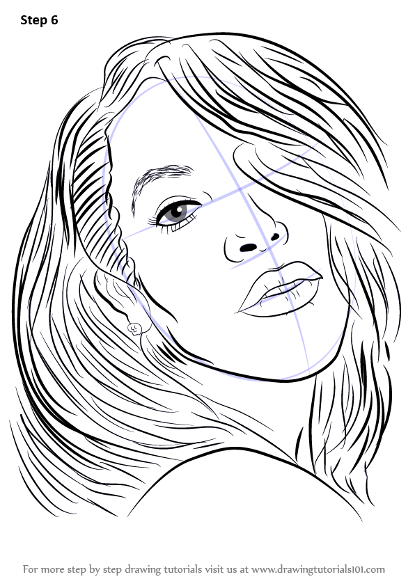 Step By Step How To Draw Aaliyah