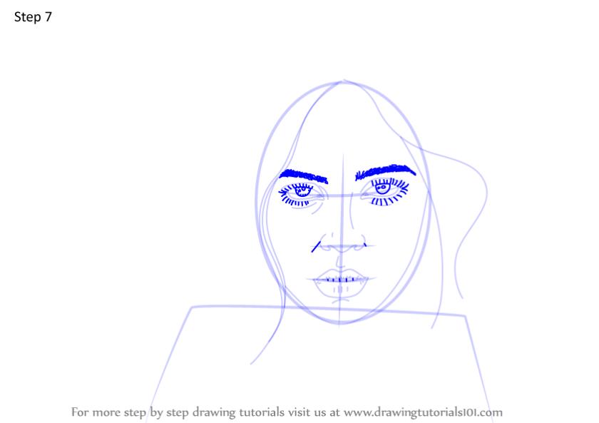 learn how to draw billie eilish (singers) stepstep