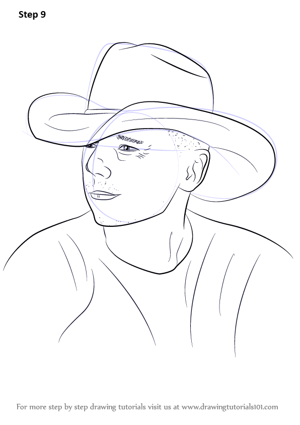 Learn How To Draw Kenny Chesney Singers Step By Step