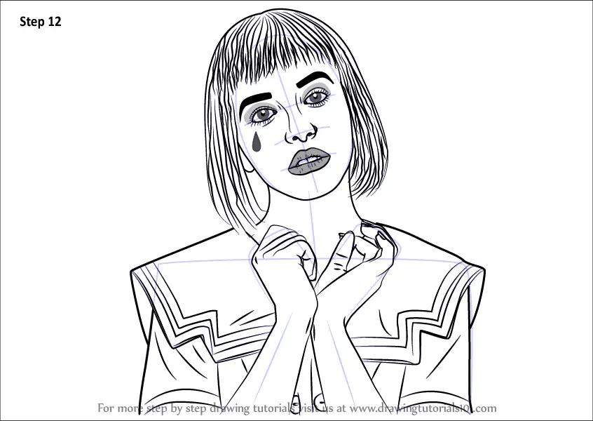 Step By Step How To Draw Melanie Martinez