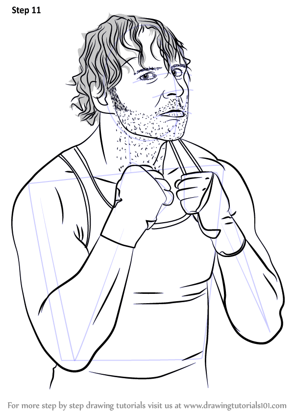 Learn How To Draw Dean Ambrose Wrestlers Step By Step