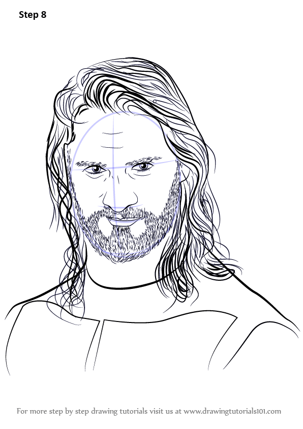 Learn How To Draw Seth Rollins Wrestlers Step By Step