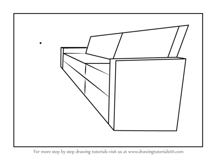 how to draw steps in 2 point perspective