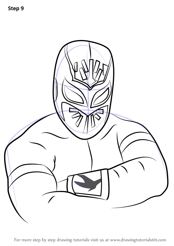 Learn How To Draw Sin Cara Logos And Mascots Step By