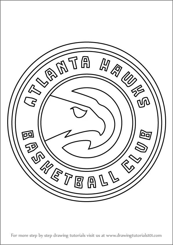 Learn How To Draw Atlanta Hawks Logo NBA Step By Step
