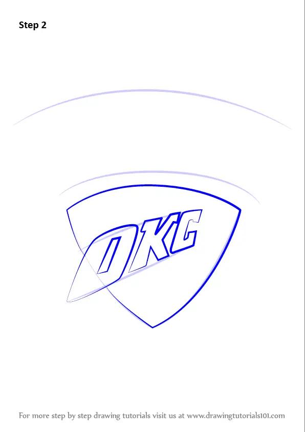 Learn How To Draw Oklahoma City Thunder Logo Nba Step By