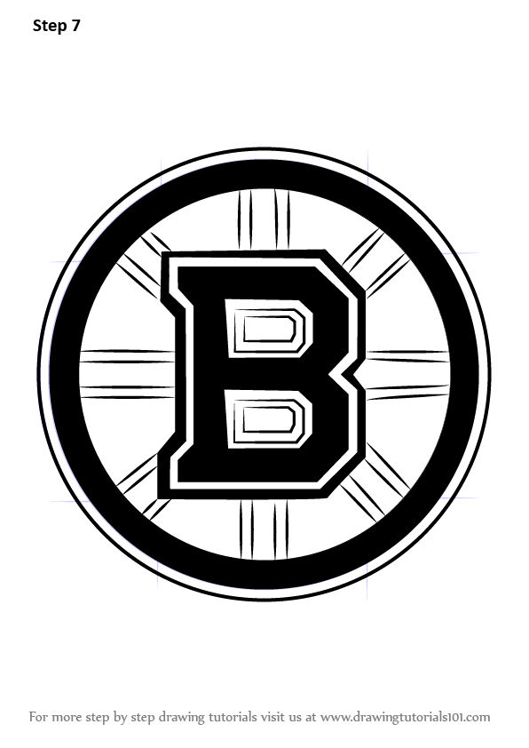 Learn How To Draw Boston Bruins Logo Nhl Step By Step