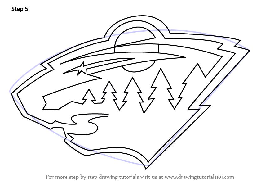 Learn How To Draw Minnesota Wild Logo NHL Step By Step