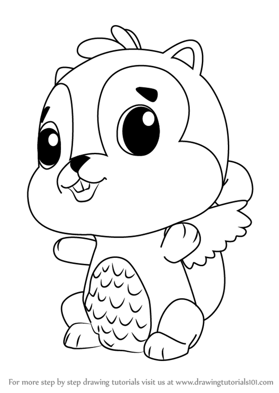 learn how to draw chipadee from hatchimals (hatchimals