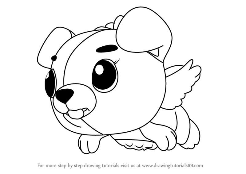 learn how to draw cloud puppit from hatchimals (hatchimals