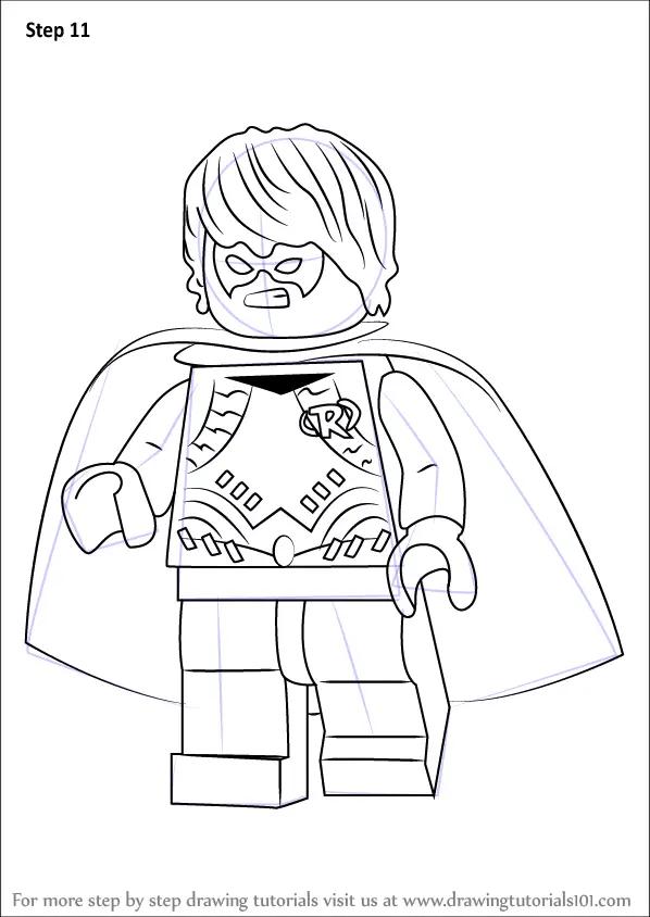 Learn How To Draw Lego Dick Grayson Aka Robin Lego Step
