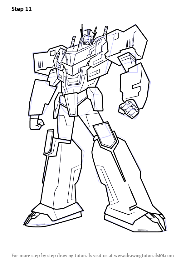 Learn How To Draw Optimus Prime From Transformers