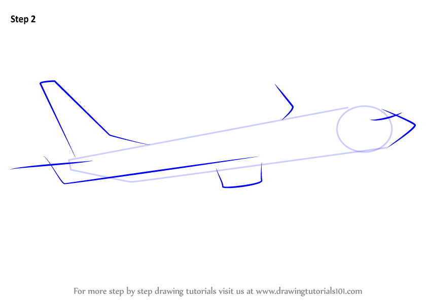 Learn How To Draw A Boeing 737 Airplanes Step By Step