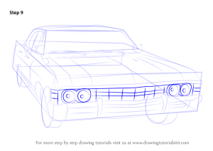 Learn How to Draw a 1967 Chevy Impala (Cars) Step by Step