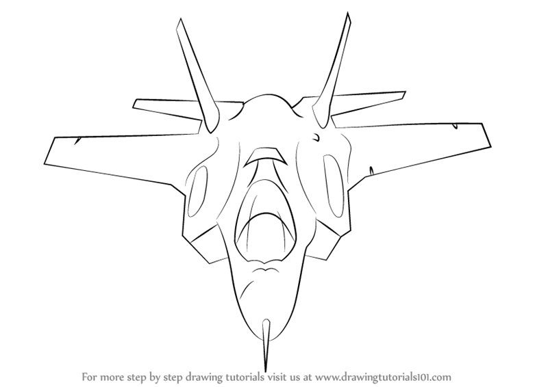 F 22 Raptor Top View Silhouette