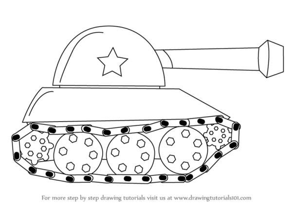 Learn How to Draw a Tank for Kids (Military) Step by Step ...