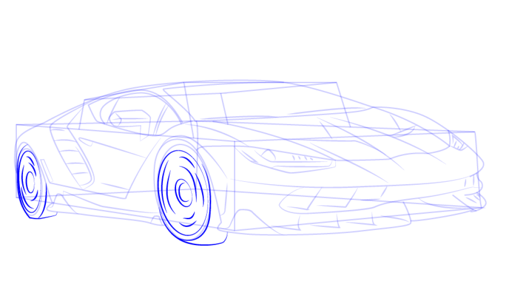 How To Draw Lamborghini Centenario Side View 3 Epicgaming